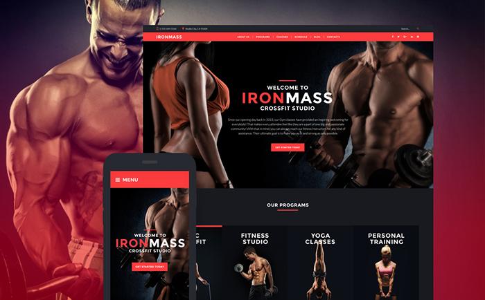 IronMass - Gym Fitness & Bodybuilding WordPress Theme